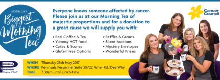 Come along to Australia's Biggest Morning Tea